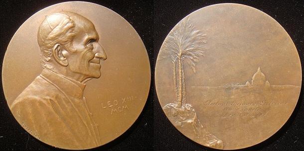 Leo XIII 1900 Medal by Austrian R. Marschall Photo