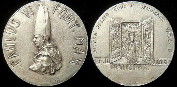 Paul VI 1963 2nd Session Ecumenical Council Silver Photo