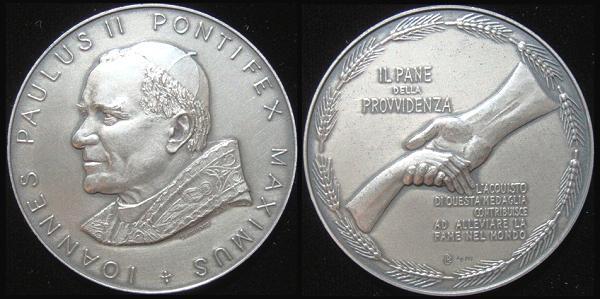 John Paul II 1983 Bread of Providence Medal 50mm Photo