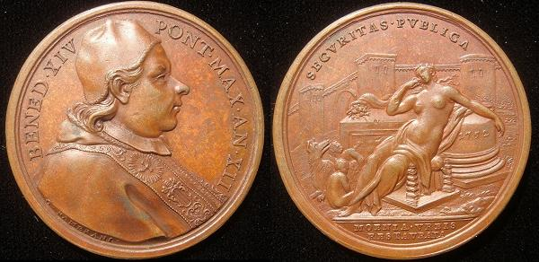 Benedict XIV (1740-58) Anno XII Bronze Medal Photo
