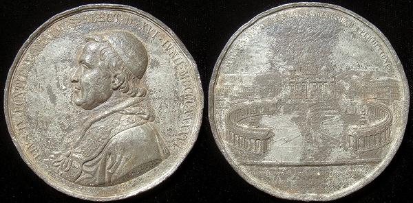 Pius IX 1869 Ecumenical Council 72mm Photo