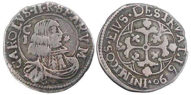 Italy-Cagliari. Charles II 1690 Reale Photo