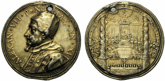 Alexander VII 1665 Canonization Francis de Sales Photo