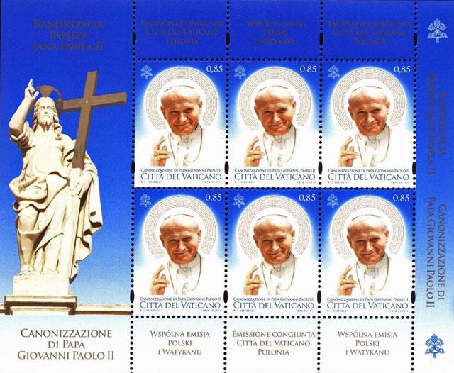 2014 Canonization John Paul II Stamp Sheet Photo