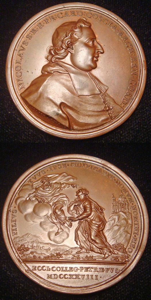 1728 Card. Niccolo Coscia Medal 45mm Photo