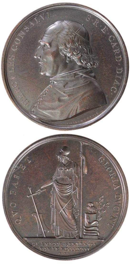 Cardinal Ercole Consalvi 1824 Medal (Pius VII) Photo
