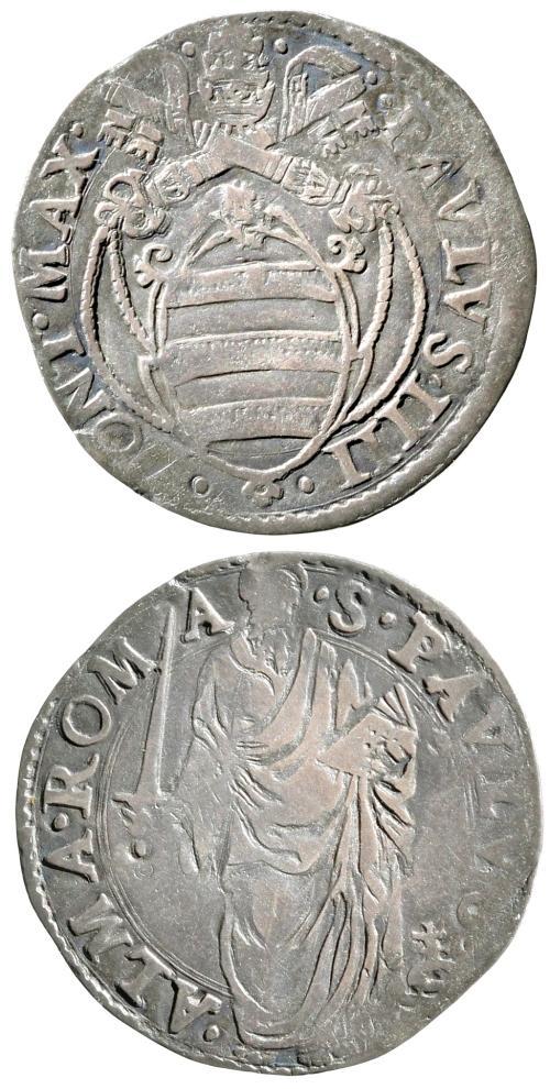 Paul IV (1555-9) Giulio, St. Paul Coin Photo