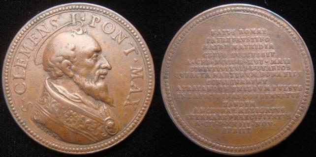 Pope Saint Clement I (92-99) Papal Medal Photo