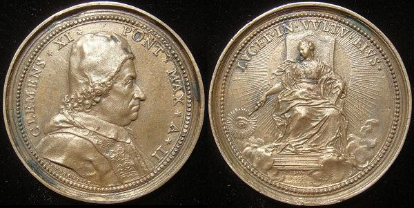 Clement XI (1700-21) Anno II Saint-Urbain Medal Photo
