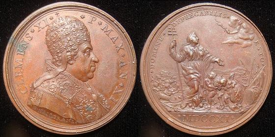 Clement XI (1700-21) Anno XI Bronze Medal Photo
