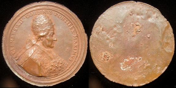 Clement XII (1730-40) Uniface Medal 65mm Bronze Photo