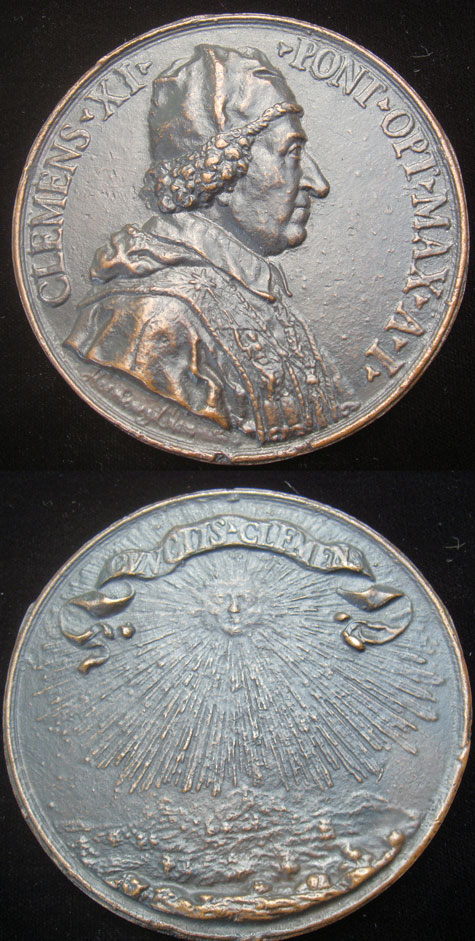 Clement XI 1700 Bronze 96mm Photo