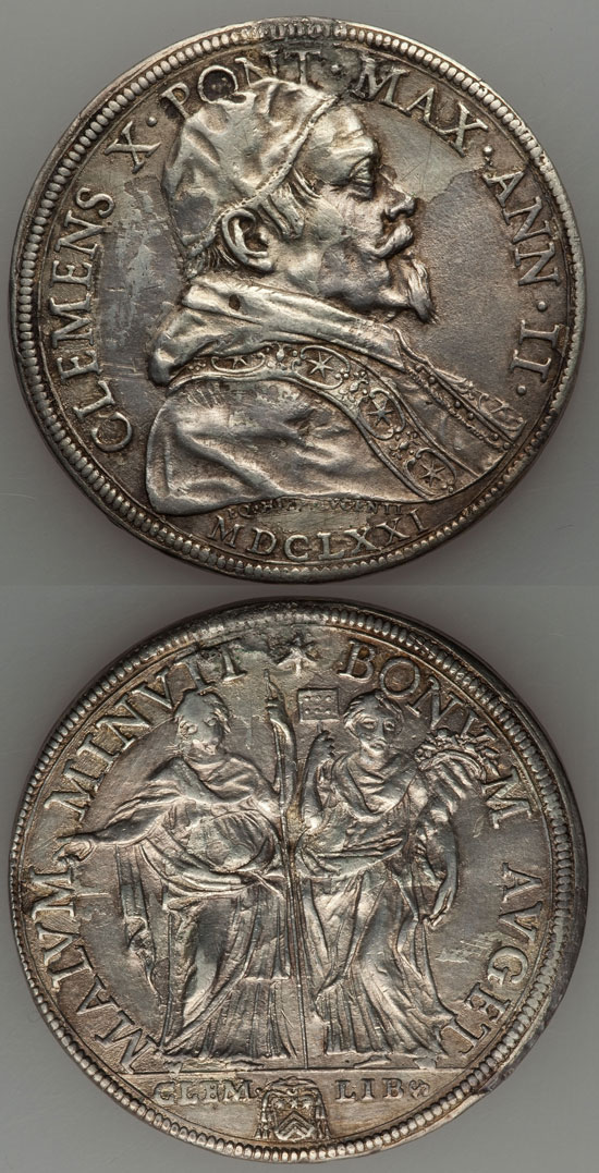 Clement X 1671 Piastra, Clemency and Liberty Photo