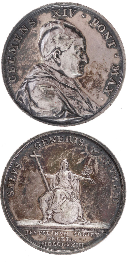 Clement XIV 1773 Ag Medal Suppression of Jesuits Photo
