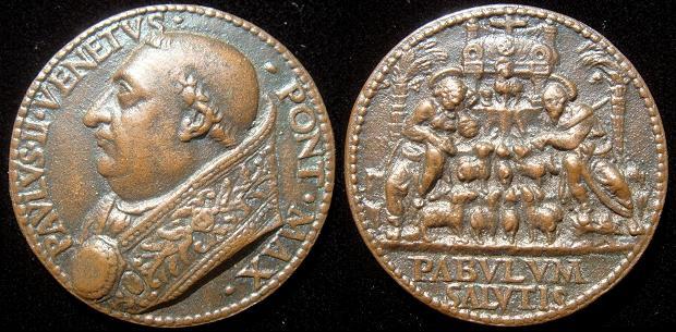 Paul II (1464-71) Cast Bronze Medal Photo