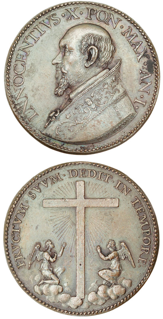 Innocent X (1644-55) Anno I Bronze Medal Photo