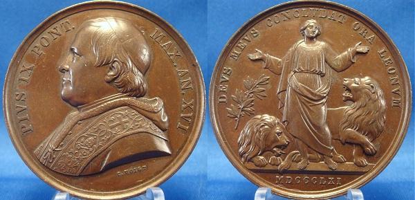 Pius IX (1846-78) A.XVI Daniel and Lions Photo