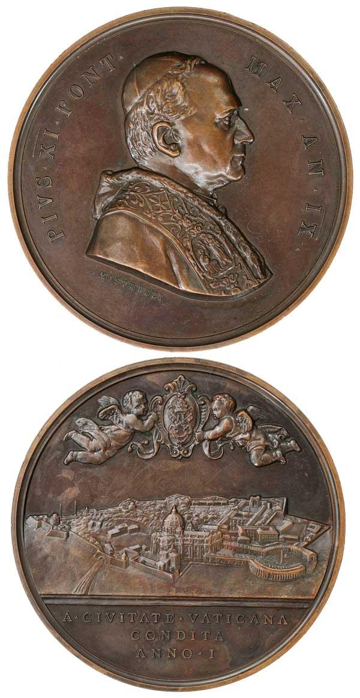 Pius XI An. IX Founding of Vatican City 83mm Photo