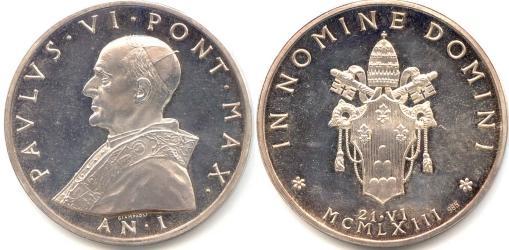 Paul VI (1963-78) Anno I Election Silver Medal Photo