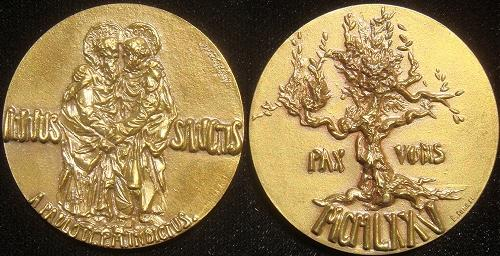 Paul VI Official 1975 Holy Year Bronze Medal Photo