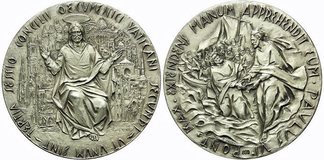 Paul VI 1964 Ecumenical Council Silver Medal Photo