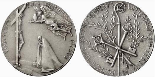 Paul VI 1965 Ecumenical Council Silver Medal Photo