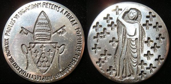 Paul VI 1969 Uganda Martyrs Silver Medal Photo