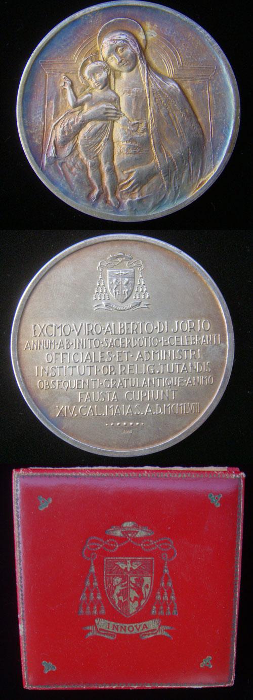1958 (Pius XII) Cardinal Alberto di Jorio Medal Photo