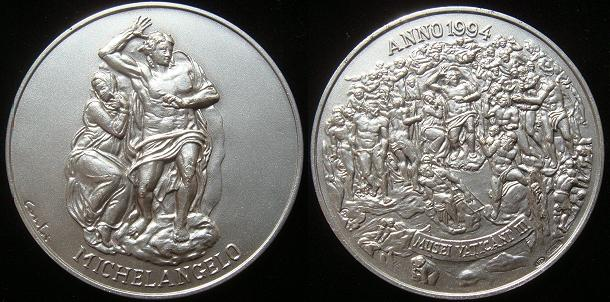 Vatican Museum Medal Ar 1994 Last Judgement Photo