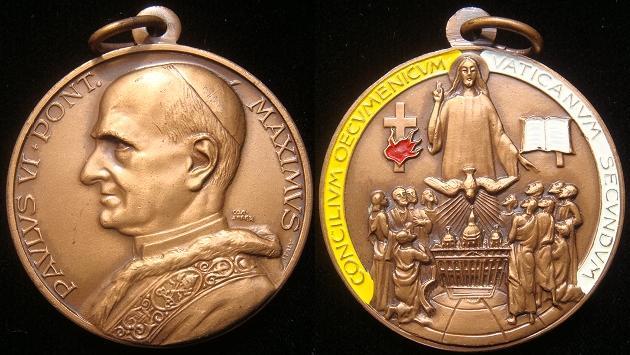 Paul VI Second Vatican Council Medal Photo