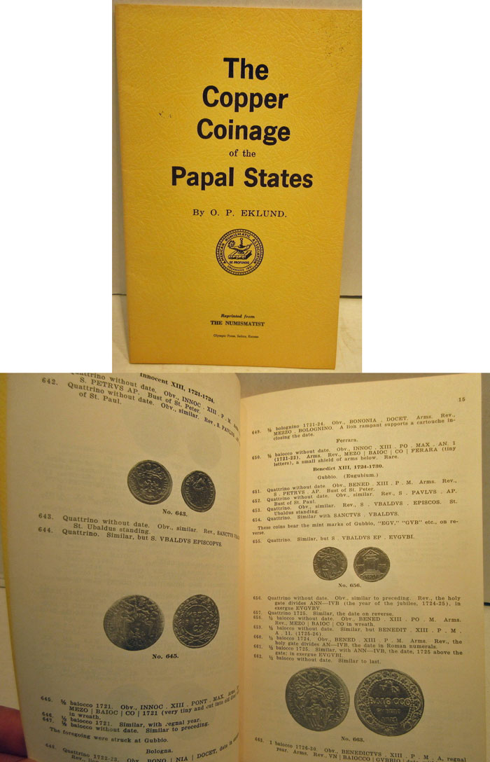 Eklund, Copper Coinage of the Papal States Photo