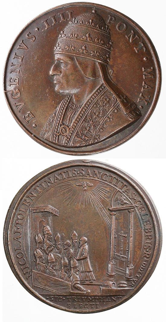 Eugene IV (1431-7) St. Nicholas of Tolentino Photo