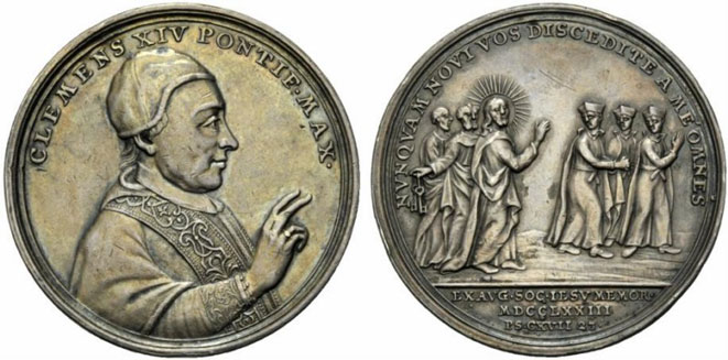 Clement XIV (1769-74) Expulsion of Jesuits Medal Photo