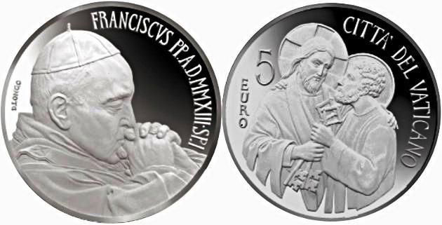 2013 Vatican 5 Euro Beginning of Pontificate Photo