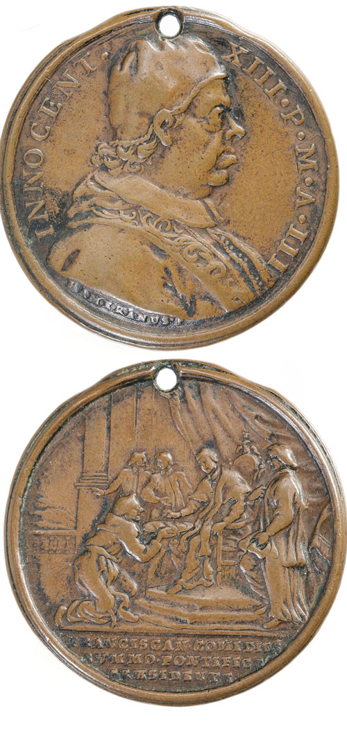 Innocent XIII (1721-4) Franciscan Congress Medal Photo