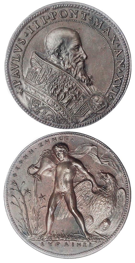 Paul III (1534-49) Ganymede Medal Photo