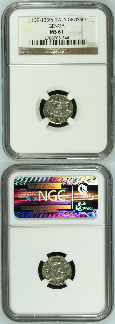Italy: Genova (1139-1339) Grosso NGC MS61 Photo