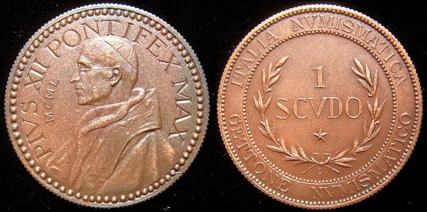 Pius XII 1950 Gettone Numismatico Photo