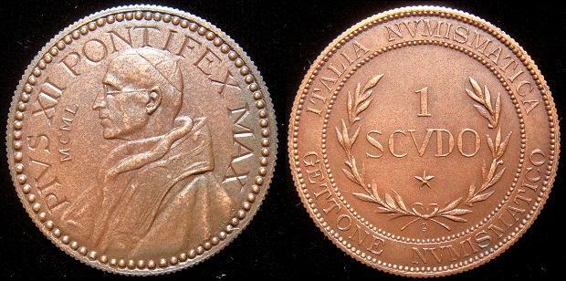 Pius XII 1950 Gettone Numismatico Photo
