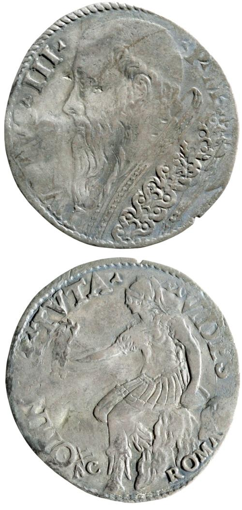 Julius III (1550-5) Silver Giulio Coin Photo