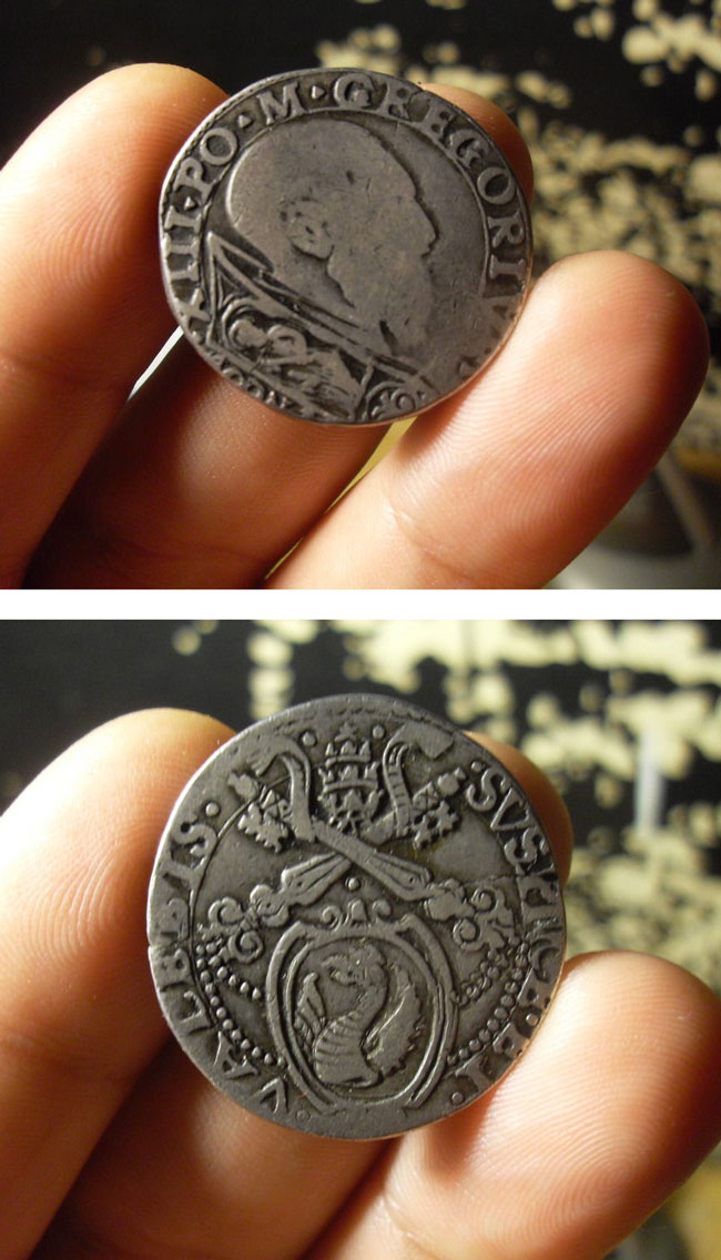 Gregory XIII (1572-85) Testone, Ancona Mint Photo