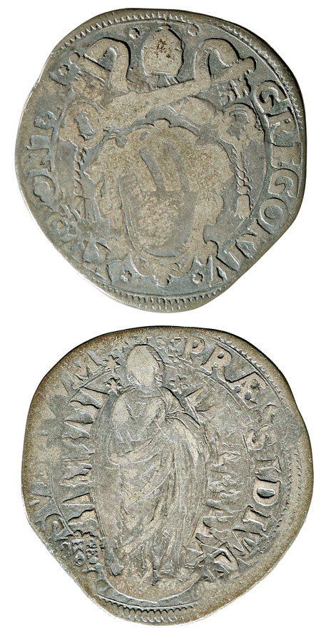 Gregory XV (1621-3) Testone VG Photo