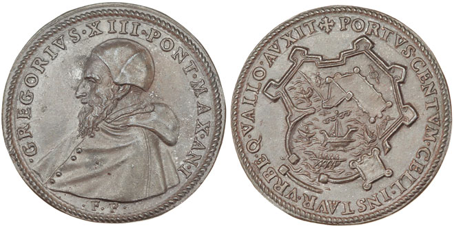 Gregory XIII (1572-85) Naval Scene Medal Photo