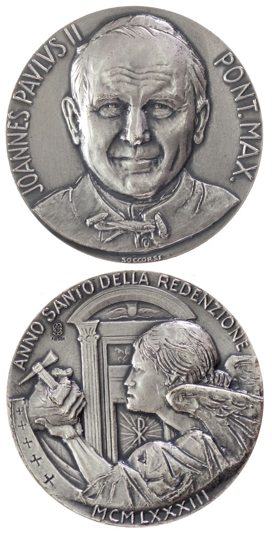 1983 John Paul II Holy Year Silver Medal Photo