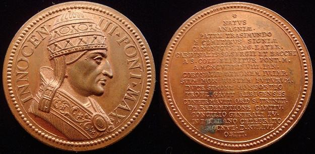 Innocent III (1198-1216) C.G. Lauffer Medal Photo