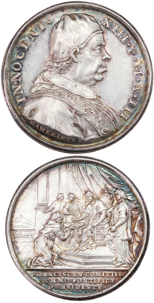 Innocent XIII (1721-4) Franciscan Congress, Silver Photo