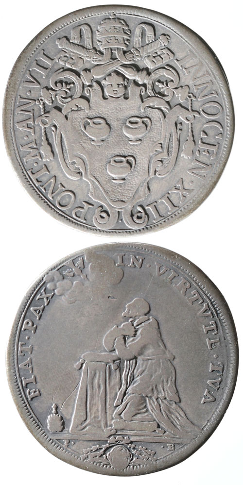 Innocent XII (1691-1700) A.VII Half Piastra Photo