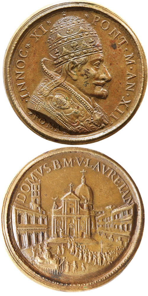 Innocent XI (1676-89) Basilica of Loreto Medal Photo