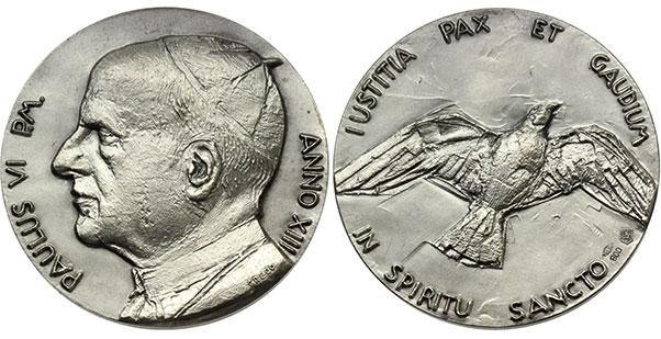Paul VI (1963-78) Anno XIII Silver Medal Photo