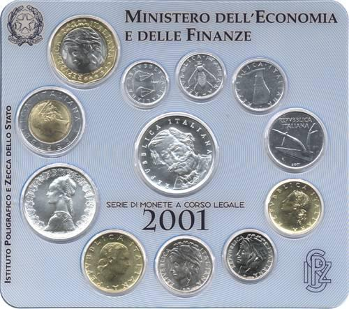 2001 Italy Mint Coin Set Giuseppe Verdi Photo